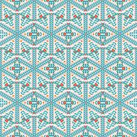 Seamless  pattern of snowflakes