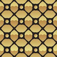 Universal vector negro y oro patrón de mosaico sin fisuras.