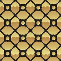 Universal vector black and gold seamless pattern tiling.