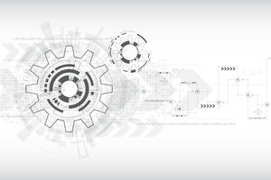 Vector de tecnología de fondo en el concepto de engranajes.