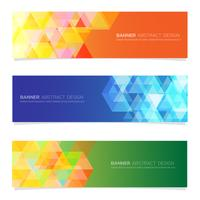 Abstract  design banner web set   template.