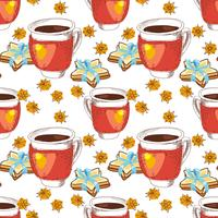 Seamless texture cup of tea