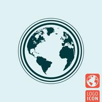 Earth icon isolated