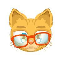 Gullig kattunge med glasögon