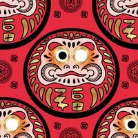 Daruma doll seamless pattern.