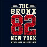 Design letters and numbers athletic the bronx new york for t-shirts