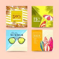 Social media post voor de zomer