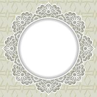 Ornamental lace frame