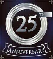 Anello anniversario d'argento