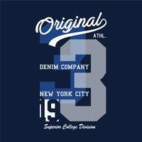 design della stampa newyorkese per t-shirt e altri usi