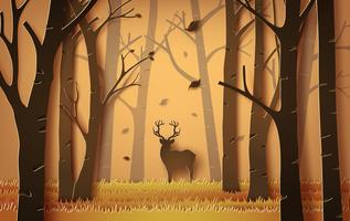 deer in the forest. vector