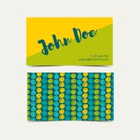 Fondo del vector de la tarjeta de visita. Color de destello verde de la tendencia.