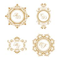 Set of wedding logos