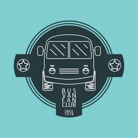 Logotipo de van de ônibus