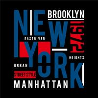 New York Typografie Design T-Shirt mit Grafikdruck,