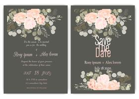 Greenery Wedding Invitation ,Template Eucalyptus  Wedding Invitation.