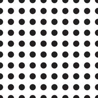 Vector seamless patterns with white and black peas (polka dot).