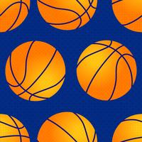 Basketball seamless pattern. Orange ball.