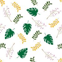 Vector seamless pattern. with leaves background