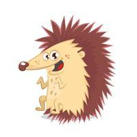 Cute illustration hedgehog smiling