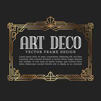 Marco de estilo art deco vintage. ilustración vectorial