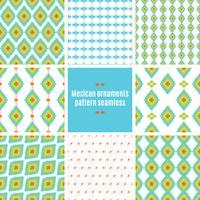 Tracería folclórica mexicana textil patrón sin costuras