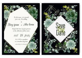 Greenery Wedding Invitation ,Template Eucalyptus  Wedding Invitation.