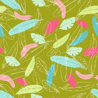 Vector seamless pattern with raven s feathers. pastel color