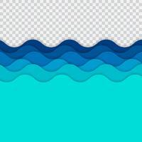 Onde di linee astratte blu, motivo a strisce ondulate, superficie ruvida, su sfondo di trasparenza.