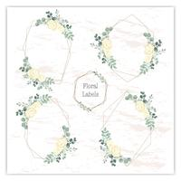 Blank wreath frame with green eucalyptus vector