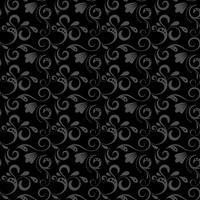 Padrão de damasco preto