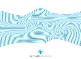 Abstract blue lines wave pattern on white background.