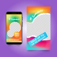 Summer banner for social media stories
