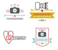 Fotografie-Abzeichen und Etiketten im Vintage-Stil