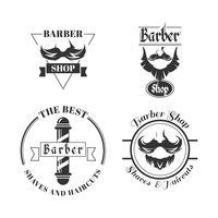 Set of barbershop logos