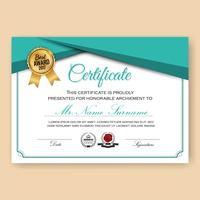 Plantilla de fondo de certificado verificado moderno vector