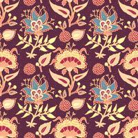 Indian National Paisley Ornament für Baumwolle, Leinen.