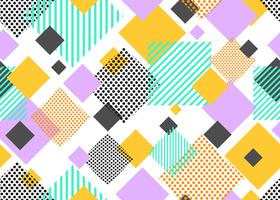Seamless pattern of colorful triangle geometric modern shape on white background - Vector illustration
