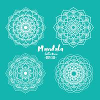 Satz dekoratives und dekoratives Design der Mandala