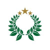 Vecteur logo couronne logo