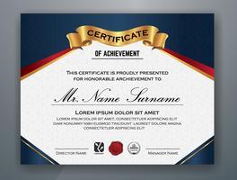 Multifunctionele moderne professionele certificaatsjabloon