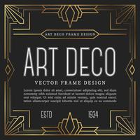 Vintage frame art deco style. vector illustration