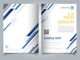 Brochure Template technology geometric blue color shiny motion diagonally background.