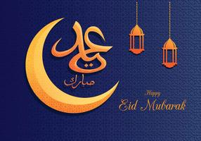 Eid Mubarak saudação fundo