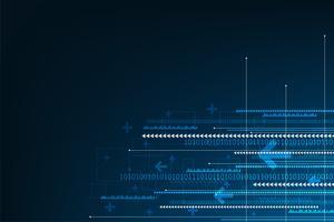 Vector l'innovazione astratta della tecnologia del fondo del futuro.