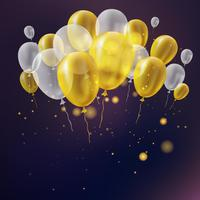 Realistic birthday balloon background