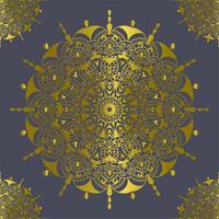 Mandala vintage decorations elements gold color vector illustration
