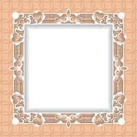 Filigree ram papper skärs ut. barock vintage design