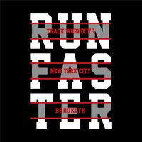 Athletic running sport typografi, t-shirt grafik
