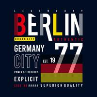 berlin bilder typografi vektor illustration för t-shirt
